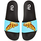 Cartoon Pizza Pattern Summer Slide Slippers For Girl Boy Kid Non-Slip House Sandal Shoes size 2