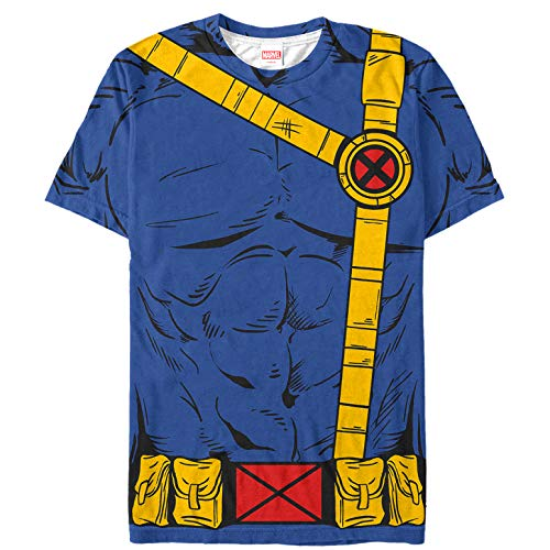 Marvel Men's X-Men Cyclops Costume Multi-Color All-Over Print T-Shirt ()