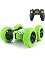 Fisca RC Car Remote Control Stunt Car, 4WD Monster Truck Double Sided Rotating Tumbling - 2.4GHz High Speed Rock Crawler Vehicle with Headlights for Boys Age 4, 5, 6, 7, 8, 9-12 Year Old