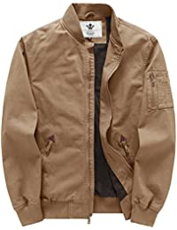 Men's Fall Cotton Casual Bomber Jacket