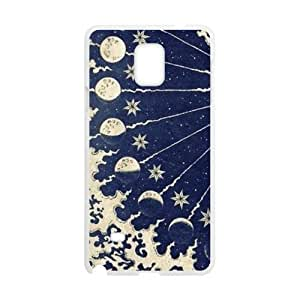 Canting_Good Black Sun and Moon Custom Case Shell Skin for SamSung Galaxy Note4 (Laser Technology)