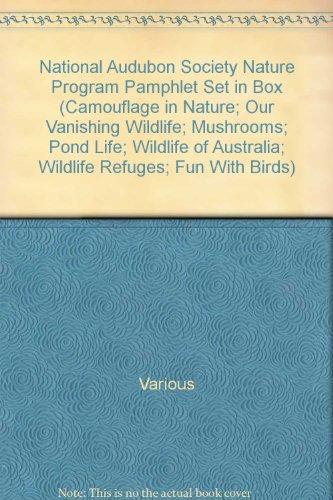 National Audubon Society Nature Program Pamphlet Set in Box (Camouflage in Nature; Our Vanishing Wildlife; Mushrooms; Pond Life; Wildlife of Australia; Wildlife Refuges; Fun With Birds)