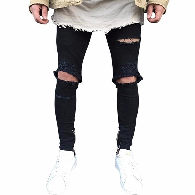 Pantalones Vaqueros Hombres Rotos 8628139a6119