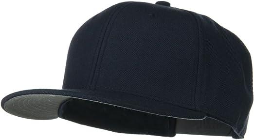 Wool Blend Flat Visor Pro Style Snapback Cap