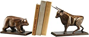 SPI Home Bull & Bear Bookends,Brown,4.0x7.5x10.5