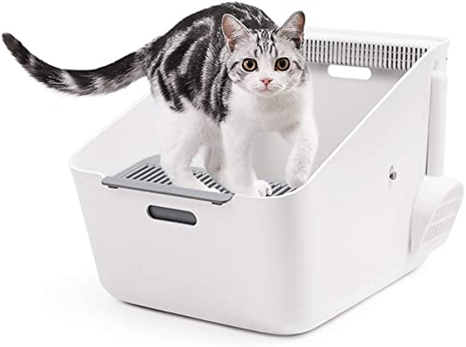 Inodoro Semi Inductor para Gatos con Caja de Arena innovadora ...