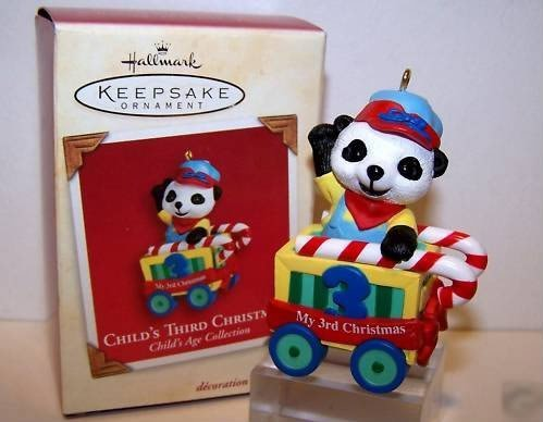 Hallmark Childs Third Christmas Ornament - Hallmark Keepsake Ornament - Child's Third Christmas 2001 (QX8385)