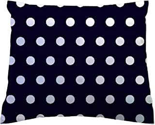 product image for SheetWorld Crib Toddler Pillow Case, 100% Cotton Woven, Polka Dots Navy, 13 x 17, Made in USA