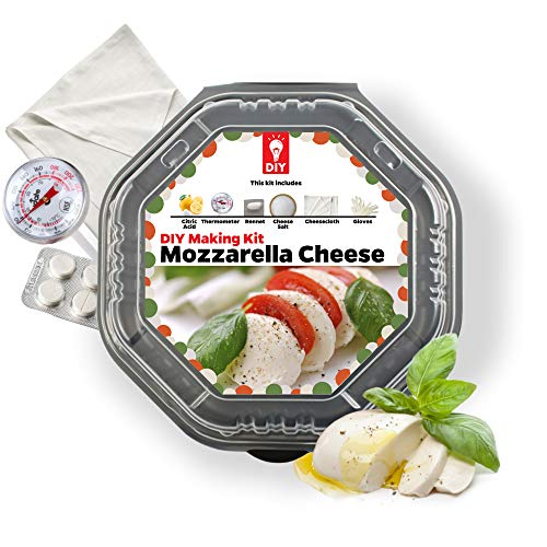 DIY Kit World Mozzarella Cheese Making Kit- Perfect Gift For Cheese Lovers And Cheese Makers