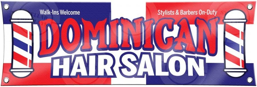 Amazon Com Dominican Hair Salon Banner 1ft X 3ft Sign Beauty Barber Lounge Display Colorful Flag Service Poster Office Products