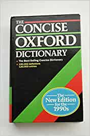 The Concise Oxford dictionary of current English. (Book ...