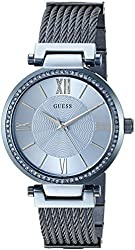 GUESS Women's U0638L3 Feminine Iconic Sky Blue Wired Bracelet with Self-Ajustable Links