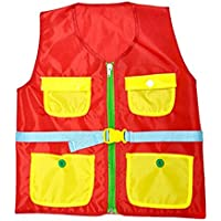 Iumer Learn Vest Montessori Children Early Educational Vest Props Basic Life Skills Toys,red