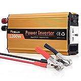 Mesllin Car Power Inverter, 1200W Modified Sine Wave Automotive Converter DC 12V to AC 240V Travel Power Supply for Laptop,Camera,Smartphone,Household Appliances