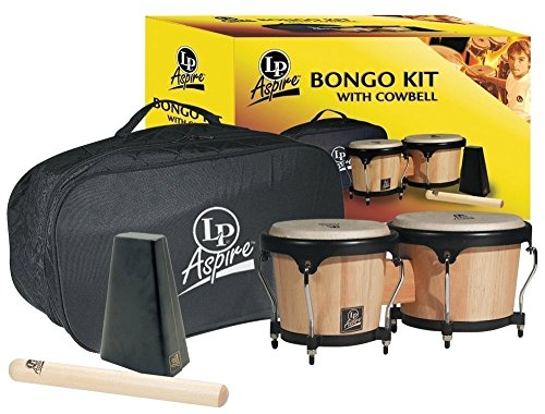 Latin Percussion Aspire Bongo Kit, Natural by Latin Percussion