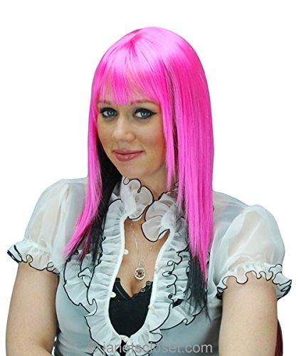 Pnks Costumes (Jewel Costume Wig - Hot Pink & Black - Women's or Crossdresser's Wig)