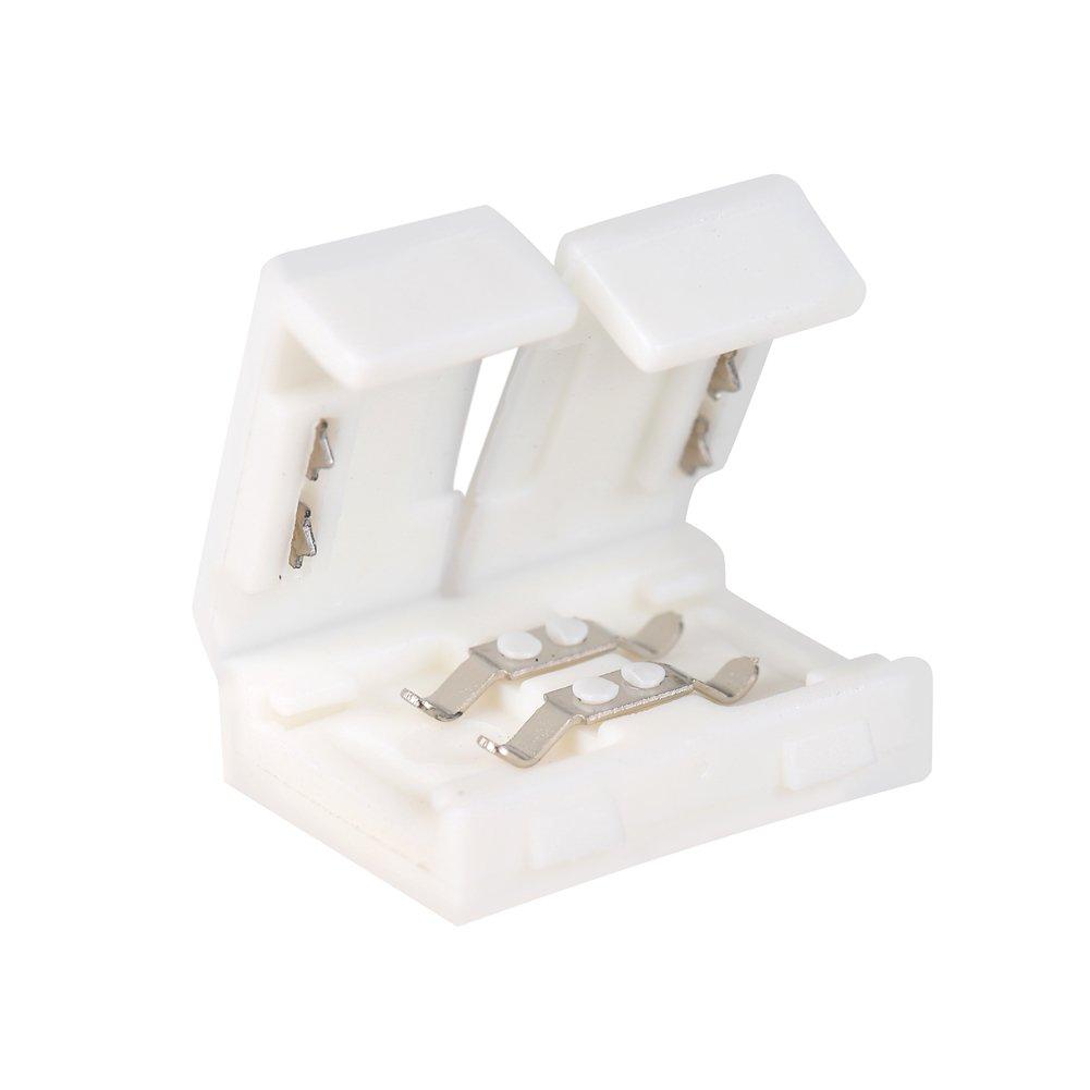 FAVOLCANO 10 x L Form 5050 2 Pin Eckverbinder Verbinder Schnellverbinder LED SMD 10mm