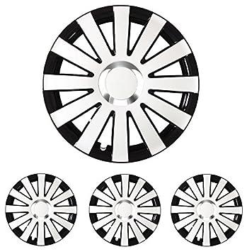 Tapacubos – Tapacubos Tapacubos Onyx Negro de color blanco 14 pulgadas 14 R14 universal apto