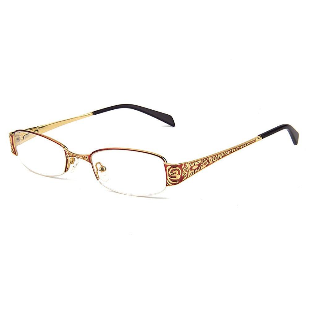 Gmei Optical-T8039 Semi-Rimless Metal Eyeglasses Frame