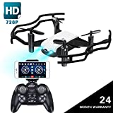 Drone with Camera, JoyGeek FPV RC Drone with Gravity Sensor Optical Flow Hand Gesture 720P HD Camera 2.4GHz 4CH 6-Axis Gyro Quadcopter for Adults and Beginners