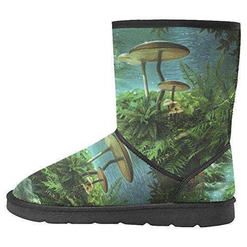 InterestPrint Womens Snow Boots Unique Designed Comfort Winter Boots Multi 21 Nagxi