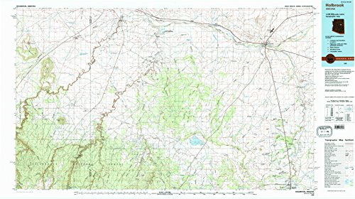 Holbrook AZ topo map, 1:100000 scale, 30 X 60 Minute, Historical, 1980, updated 1996, 24.1 x 43 IN - - Plaza Sun Valley