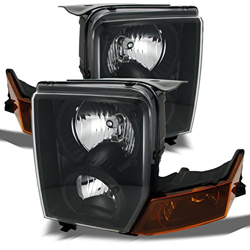 - For Jeep Commander SUV Amber Black Replacement Headlights Driver/Passenger Head Lamps Pair New
