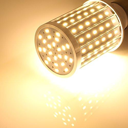 Mininono High Power LED Bulb 25W Aluminum High Power Corn Light Bulb, 108LEDs 200W Halogen Bulbs Replacement, Warm White 3000K Medium Edison E26/E27 Base Super Bright LED Lamp by Mininono (Image #1)