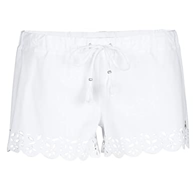 00baf437f808 BANANA MOON Short de Plage Huawei Meow Blanc  Amazon.fr  Vêtements ...