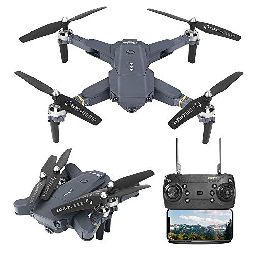 B-Qtech Drone with Camera for Kids & Adults & Beginners, Foldable WiFi RC Quadcopter 1080P Drone with Live Video, Real-time Transmission, Altitude Hold, One-Key Take-Off (Carrying 2 Batteries)
