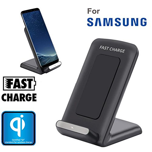 Samsung Galaxy S8 / S8 Plus, VESNIBA Qi Fast Wireless Charger Rapid Charging Stand for Samsung Galaxy S8 / S8 Plus