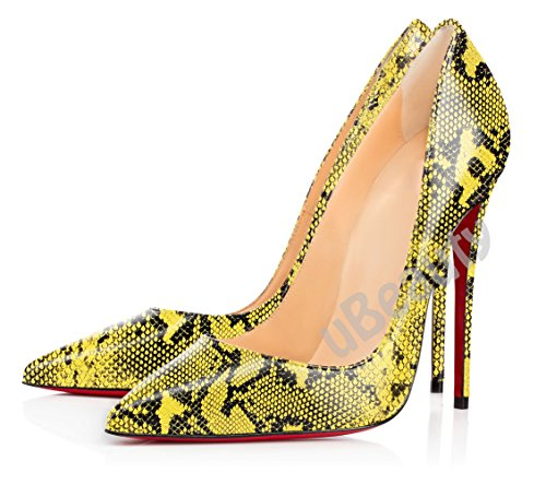 uBeauty Womens Court Shoes Stiletto High Heels Slip On Pumps Pointed Toe Shoes Sexy Serpentine Shoes Serpentine D SBqid