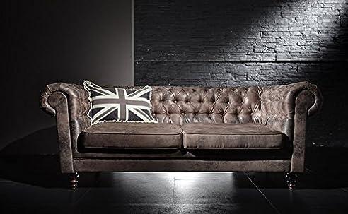 Esssofa Logan Retro Couch Polstergarnitur Sofa Chesterfield Knöpfe