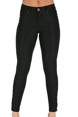 f408cf99edfa Forever Unique Mujer Cooper ajustable tobillera grazer pantalones vaqueros  Negro negro 36: Amazon.es: Ropa y accesorios