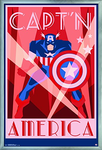 Trends International Captain America-Art Deco Wall Poster, 2