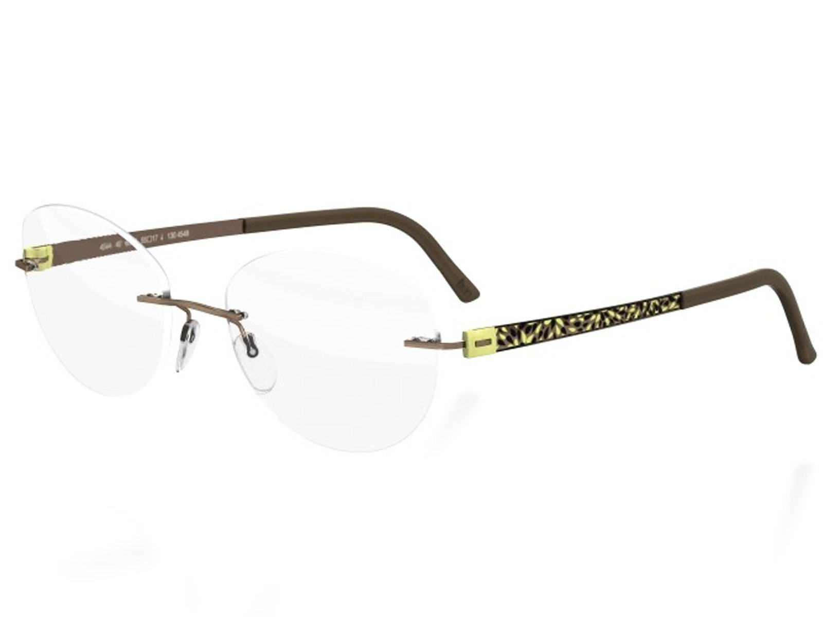 Silhouette TITAN ACCENT FLORA EDITION Eyeglasses (CITRIC KHAKI 53mm-19mm-135mm, one size) by Silhouette
