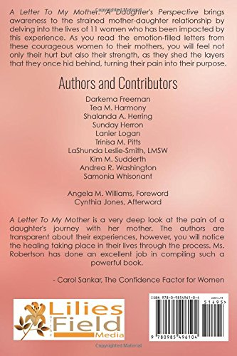A letter to my mother a daughters perspective sharisa t a letter to my mother a daughters perspective sharisa t robertson 9780985496104 amazon books altavistaventures Choice Image