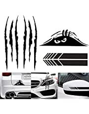 5 Pieces Car Sticker Decal Decoration Claw Mark Reflective Sticker Monster Scary Eye Car Decal Waterproof Self-Adhesive Vinyl Car Decal Sticker Rear View Mirror Sticker for Car Laptop Window