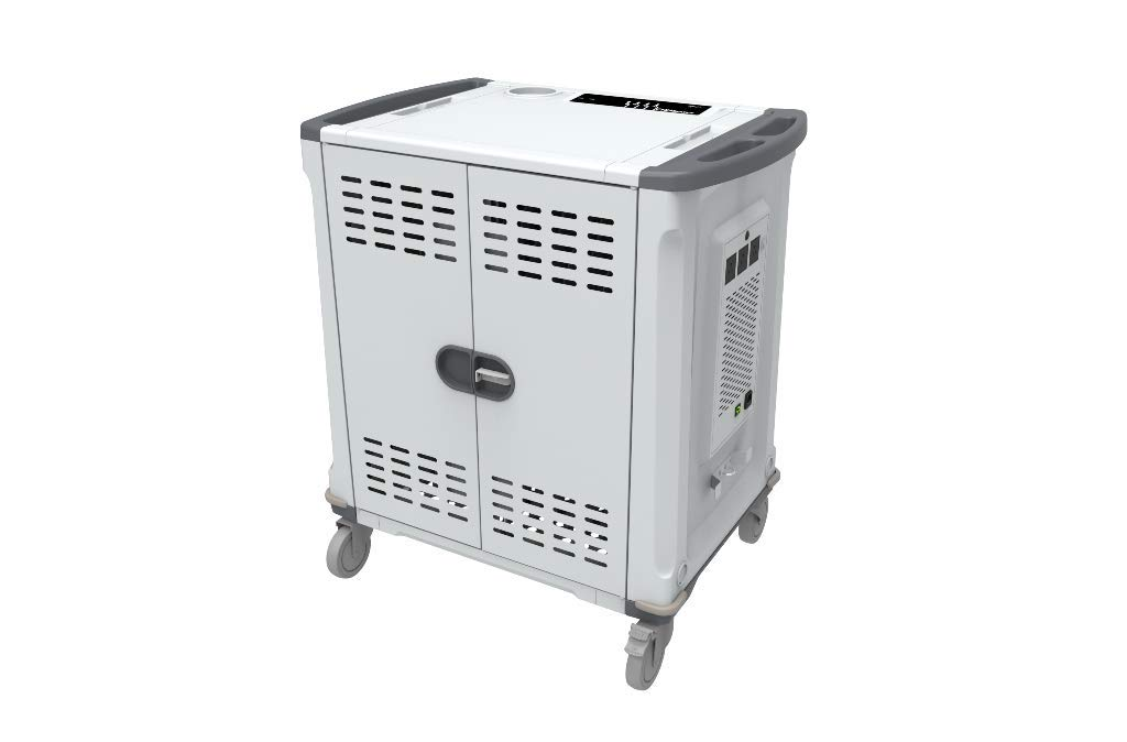 Rocstor VT0C42-01 Charging Cart with Intelligent Power Charging, Silver Grey