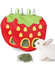 JanYoo Rabbit Hay Feeder for Cage Guinea Pig Accessories Hay Dispenser Storage Manger Hanging Large Less Waste for Bunny