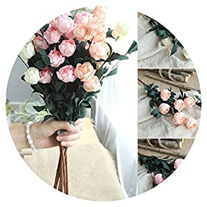 6 Heads/Bouquet Rose Decor Artificial Flower Home Decor Imitation Fake Flower for Garden Plant 105