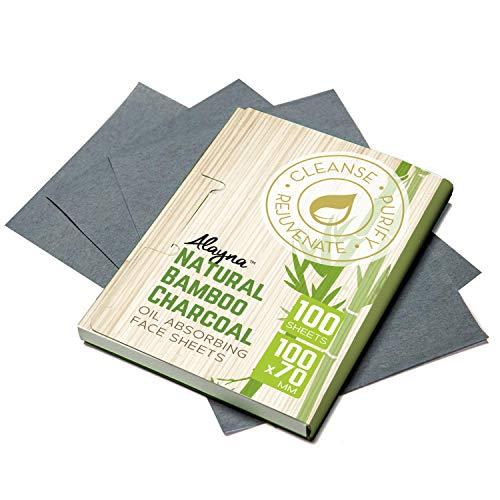 Oil Blotting Rice Papers - (3 PK) Oil Blotting Sheets- Natural Bamboo Charcoal Oil Absorbing Tissues- 300 Pcs Organic Blotting Paper- Beauty Blotters for the Face- Papers Remove Excess Shine- For Facial Make Up & Skin Care