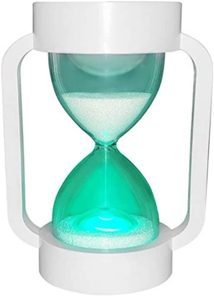 Hourglass Timer Sand Clock 10 Minutes: Large Hourglass Lamp with 7 Color Changing & Warm Light for Kids, Game, Classroom, Decoration