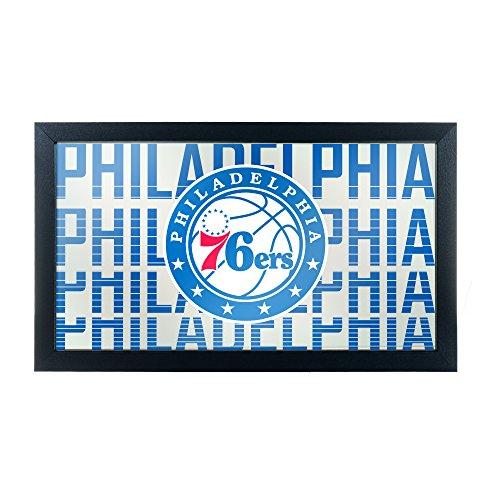 Trademark Gameroom NBA1500-PH3 NBA Framed Logo Mirror - City - Philadelphia 76Ers