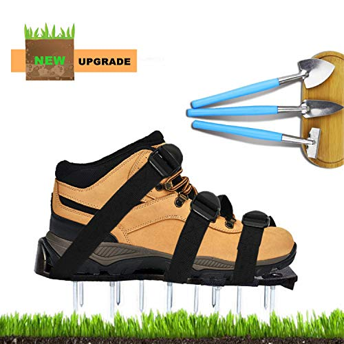 Hedonism Lawn Aerator Shoes, Yard Garden Spike Shoes Universal Size for Effectively Aerating Lawn aerating Your Yard, Lawn, Roots & Grass (Universal Spike)