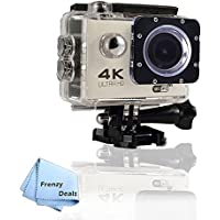 FrenzyDeals Silver Ultra HD Wifi Waterproof Sports Camera + FrenzyDeals Microfiber Cloth