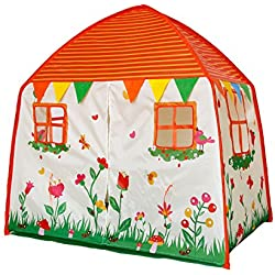 Homfu Play Tent for Kids Playhouse for Children Boys Popup Tent (Orange)