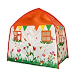 Homfu Kids Play Tent for Children Playhouse Toy As A Gift for Boys and Girls Play Indoor and Outdoor (Orange)