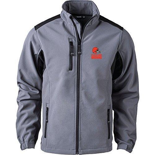 NFL Cleveland Browns Men's Softshell Jacket 2X Graphite [並行輸入品]   B07K1S1SLG