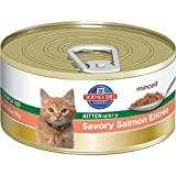Hill's Science Diet Kitten Healthy Development Savory Salmon Entree Minced Cat Food, 3-Ounce Can, 24-Pack, My Pet Supplies